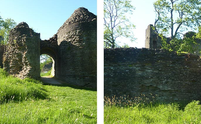 Walk around the Welsh Marches and take in the three Norman castles of Skenfrith, Grosmont and Whitecastle