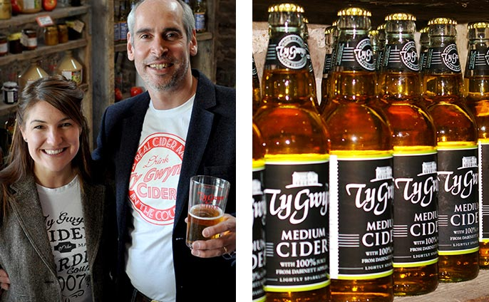 Visit their cider shop and bar near the beautiful Black Mountains