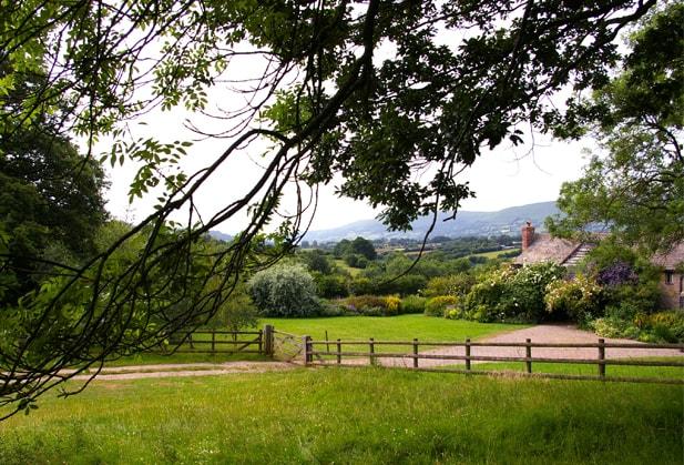 The farmhouse next door to The Barn